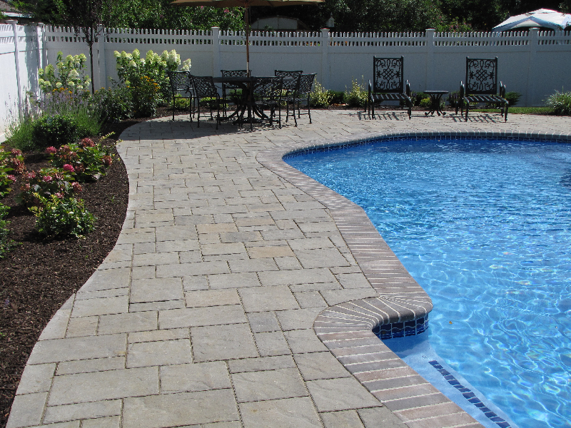 Pool patio paver gallery stone and patio professionals for Best pavers for pool deck