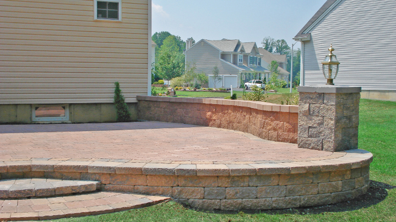 Raised Paved Patio Outdoor Living